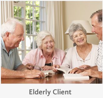 elderley clients
